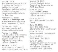 2013 RCC events and announcements.